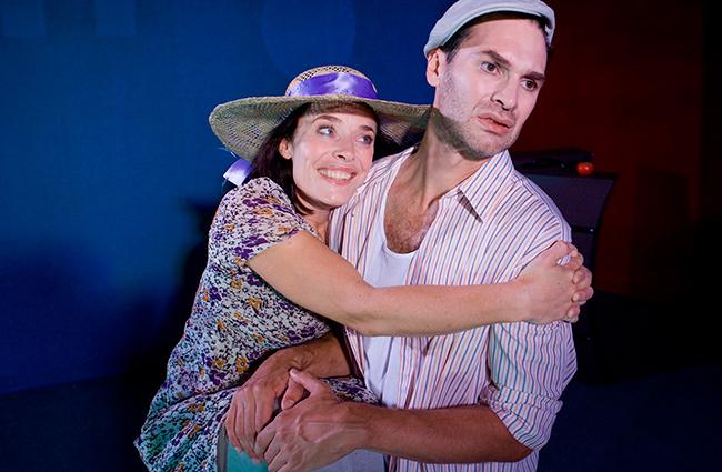 """Carina Jingrot och Johan Ehn i """"Adam och Eva"""", Teater Barbara"""